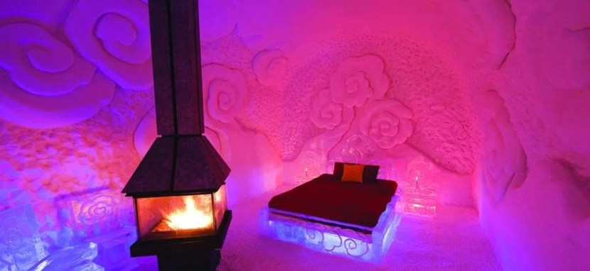 Hôtel de Glace in Canada is North America's only ice hotel. Photo courtesy of the hotel.