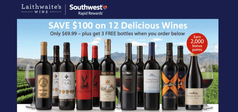 You can earn bonus Rapid Rewards points with Laithwaite's Wines.