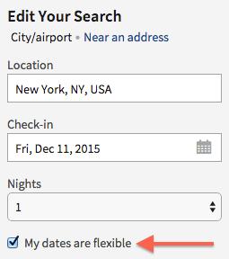 Marriott flexible dates