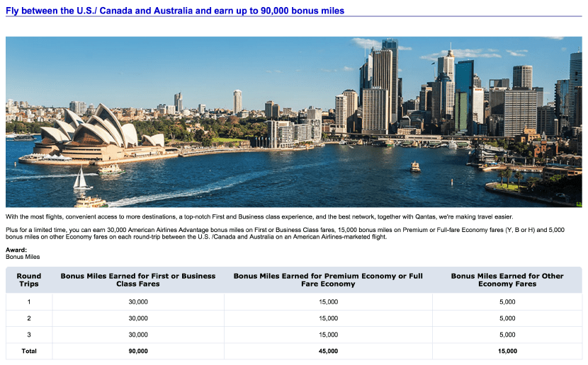 how to fly to australia on points