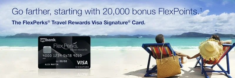 The FlexPerks Travel Rewards Visa Signature Card from US Bank.