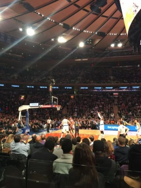 TPG enjoyed great seats at a Knicks game through the SPG Moments program.