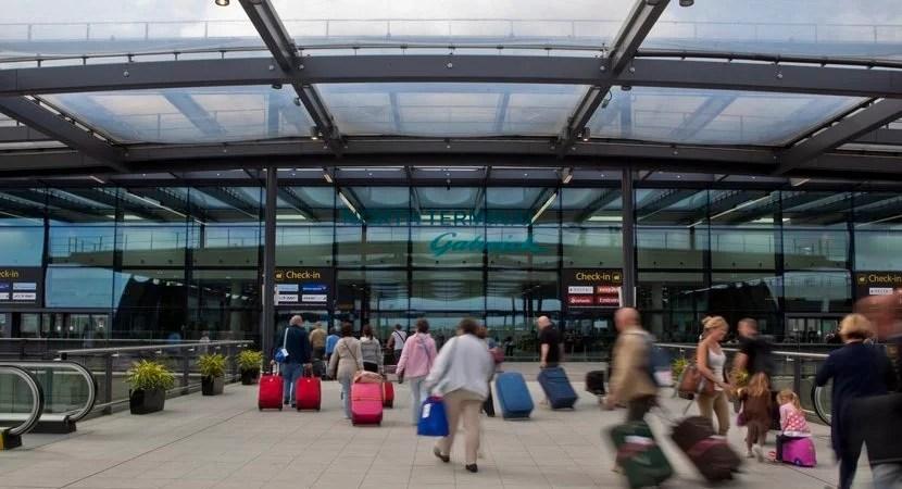 London's Gatwick Airport.