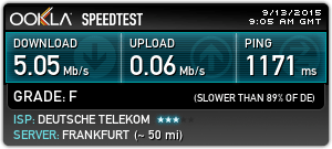 Wi-Fi speeds were quite good over Alaska.