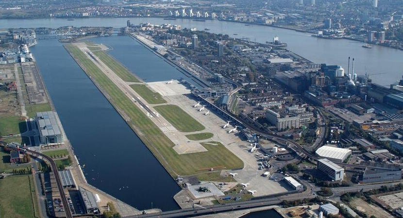 London City Airport from above.