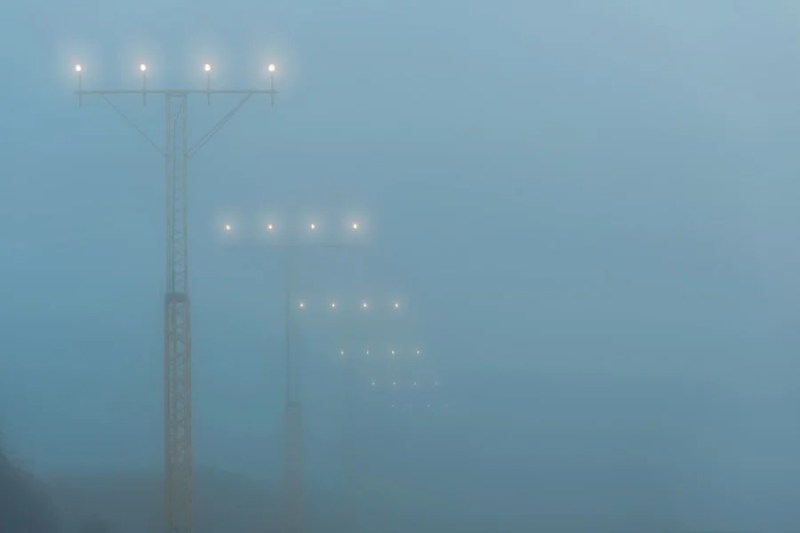 Reduced visibility caused by bad weather is one of the major causes of a holding pattern. Photo courtesy of Shutterstock.