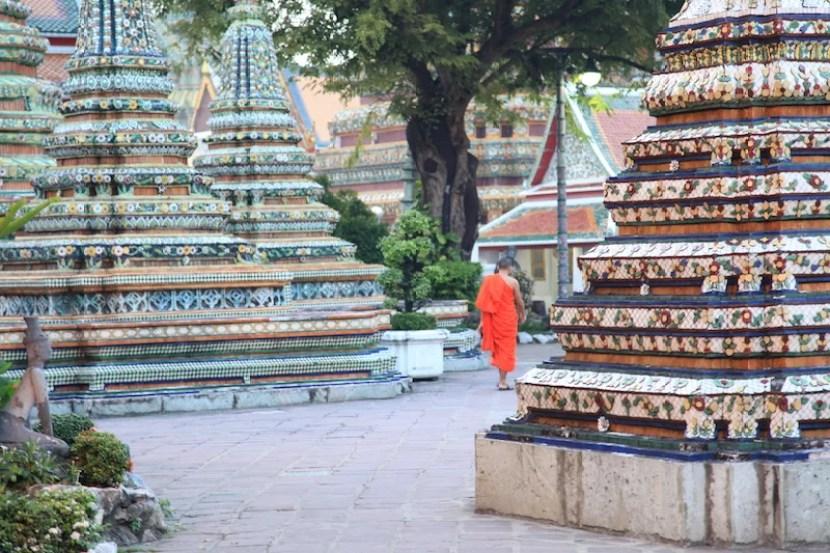 Buddhist monks stand out among the city's beautiful wats.