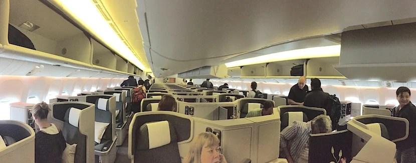 The main business-class cabin.
