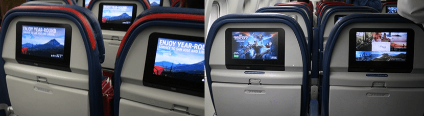 When compared side-by-side, Delta Comfort+ has the exact same entertainment options on international flights.