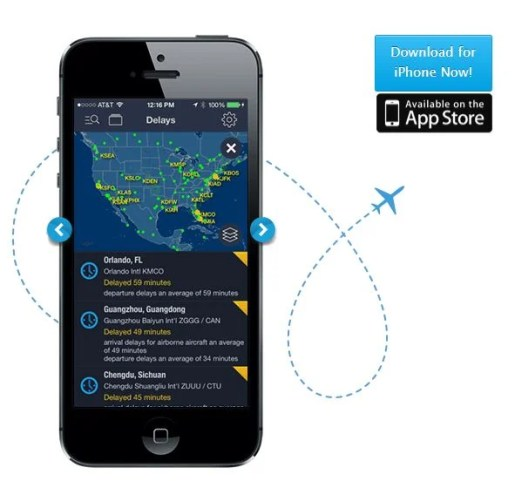FlightAware will help you track delays.