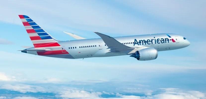 An American 787 Dreamliner.
