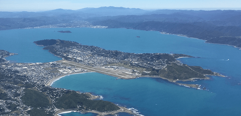 Wellington Airport's position is the best place for an airport in the region, but poses expansion challenges.