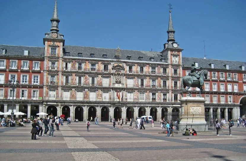 The Plaza Mayor is one of the most famous squares in Madrid.