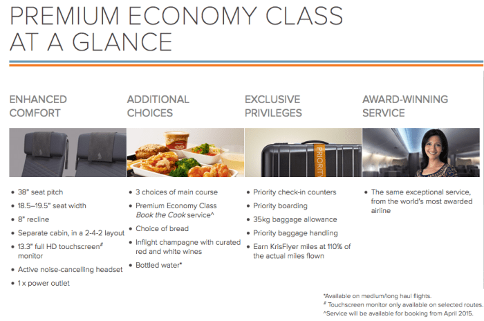 Singapore's new premium economy debuted in August.