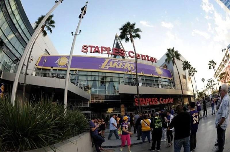 Staples Center in Los Angeles, California.