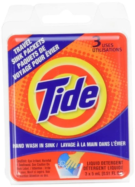 The Tide is in... my travel kit.