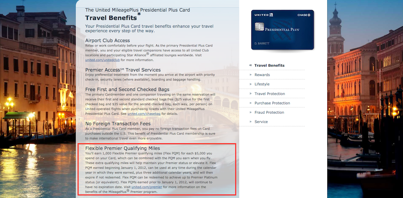 If you have the Presidential Plus card, you can convert some of your miles to PQMs.