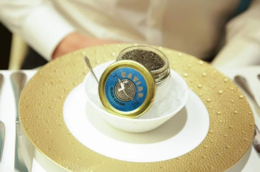 The Brooklyn-raised caviar I ate in the Etihad lounge.