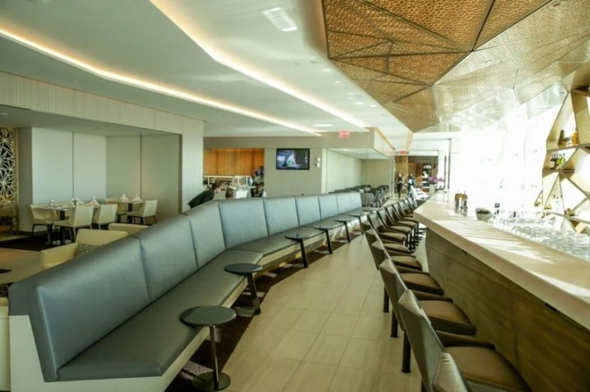 The newly renovated Etihad lounge at JFK for business-and first-class passengers – including The Residence.