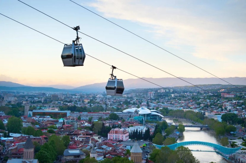The gondola ride up Sololaki Hill is an experience in and of itself, with great views of the city. Photo courtesy of Shutterstock.