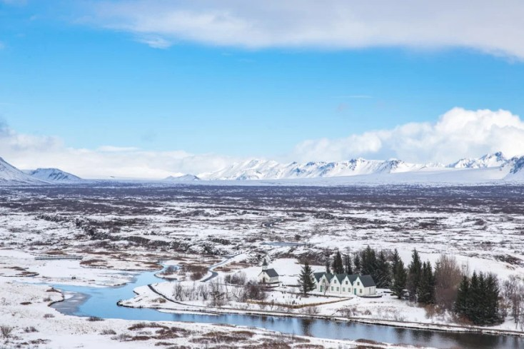 Iceland's Thingvellir National Park in the heart of winter. Photo courtesy of Shutterstock.