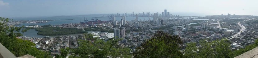 Much of Cartagena as seen from Convento de la Popa, on the highest point of the city.