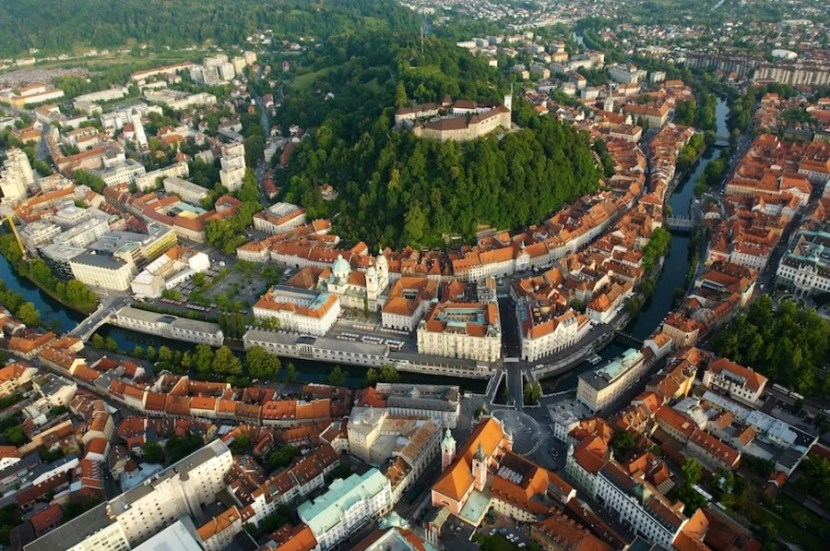 The red roofs of Slovenia's charming capital, Ljubljana. Photo courtesy of Slovenia Tourism.
