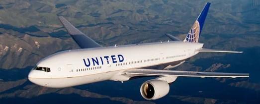 United airplane banner