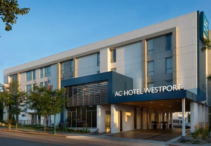 The AC Hotel Kansas City Westport is located at 560 Westport Road.