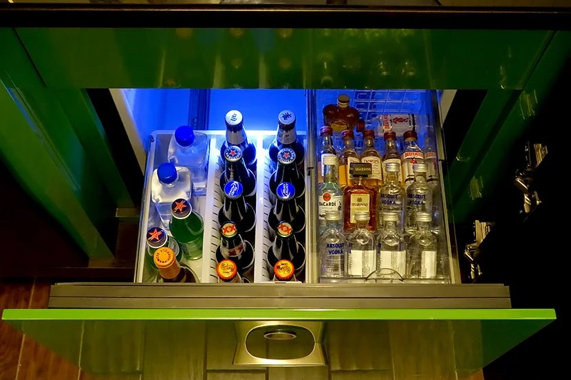 We didn't take anything from the mini-bar, but were impressed by the reasonable prices.