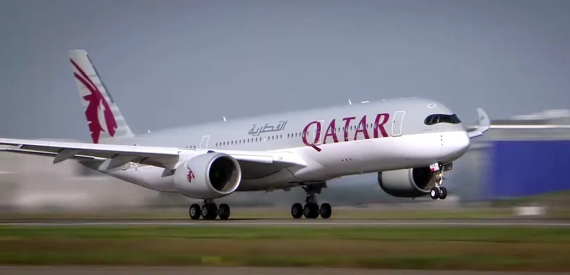 Qatar Airways will add a second daily flight to JFK, this one operated on their A350. Image courtesy of Qatar Airways