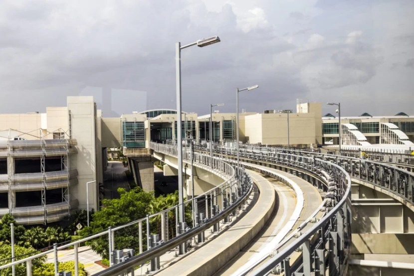 The Skytrain at the Miami Airport. Photo courtesy of Shutterstock.
