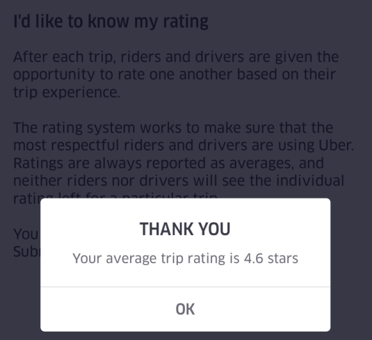 My current Uber passenger rating.