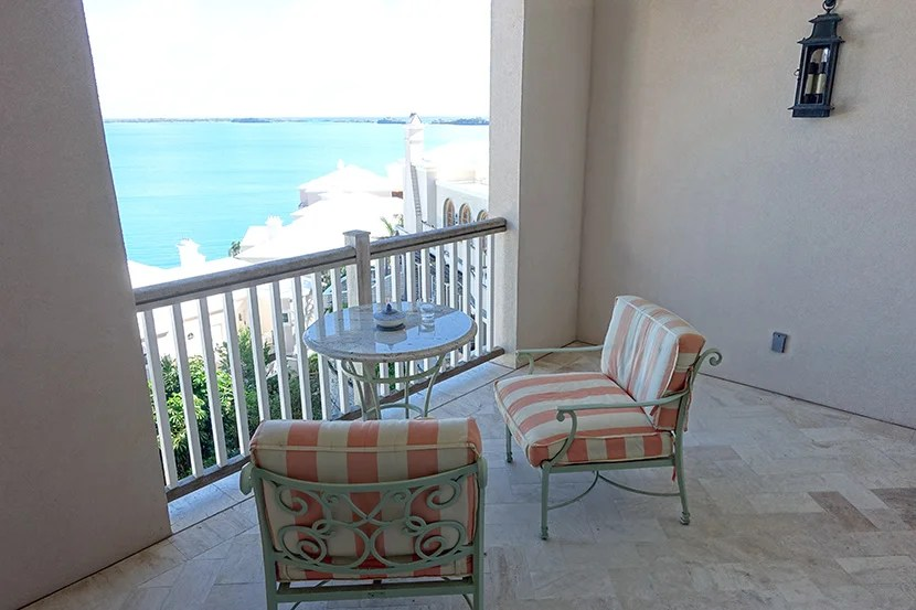 The balcony offered a great view and a nice place to sit and relax (or work).