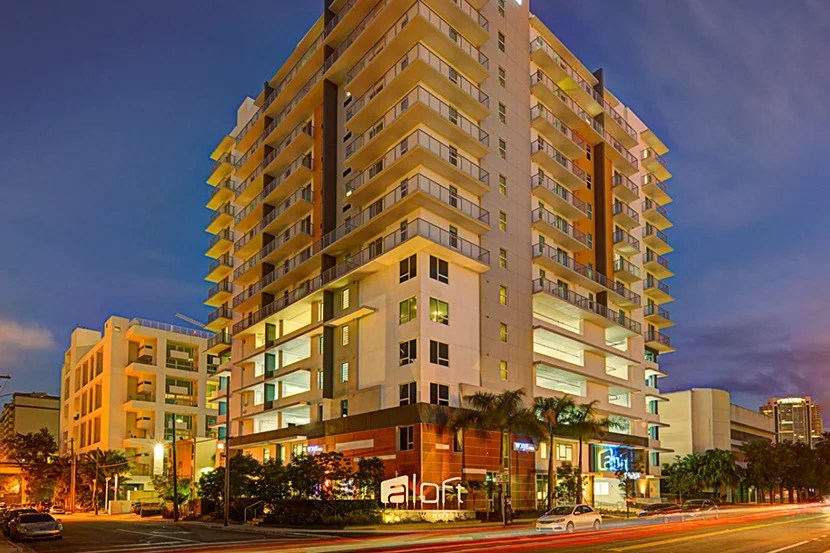The Aloft Miami - Brickell. Image courtesy of the hotel.