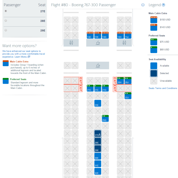 Us air seat assignment