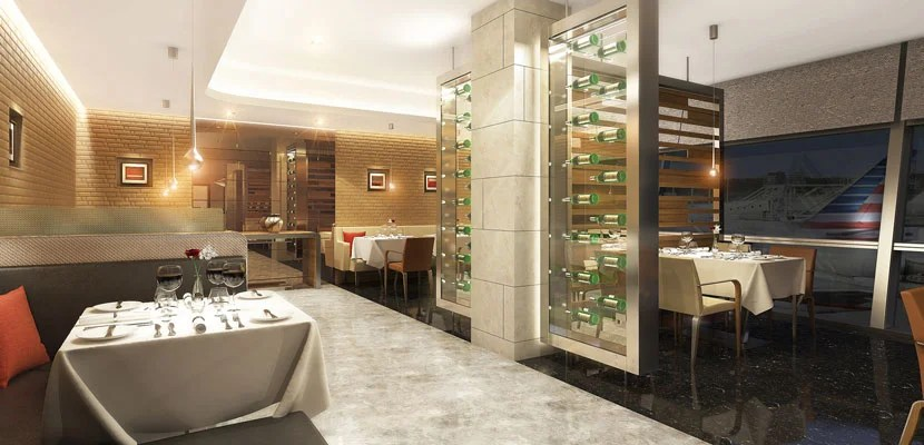 A look at the new AA flagship lounges. Image courtesy of AA.