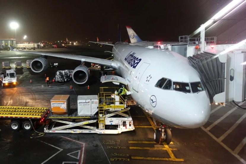 Our Lufthansa A340-600 at JFK.