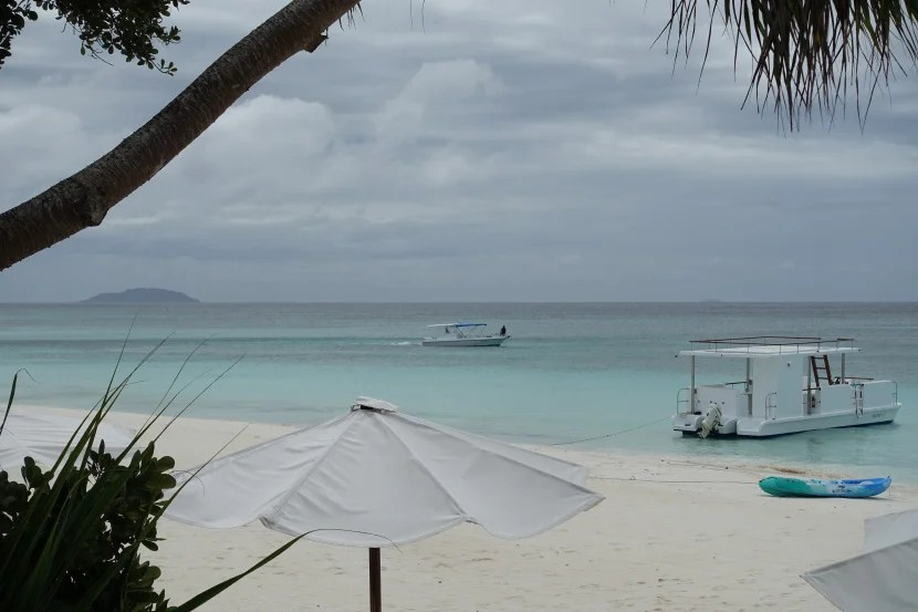 The resort offers multiple snorkeling trips per day on this boat.
