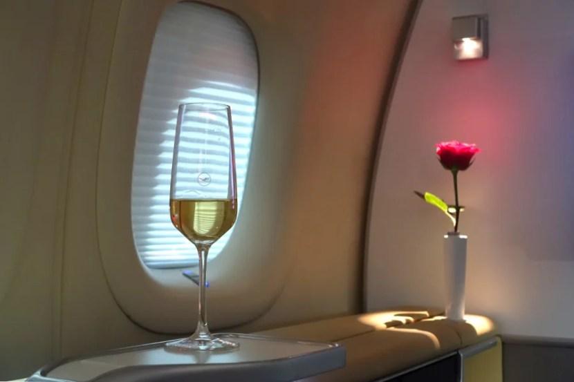 First class on Lufthansa's 747-8.