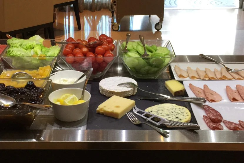 A small selection of the hotel's breakfast items.