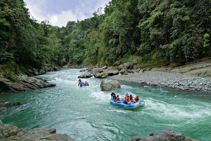 Lush scenery and challenging rapids make the Pacuare River one of the country's most popular whitewater rafting destinations.