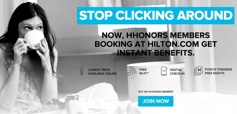 Save on Hilton stays when you book directly through Hilton.