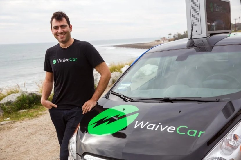 WaiveCar CEO Isaac Deutsch posing for a portrait after we drove up to Malibu.