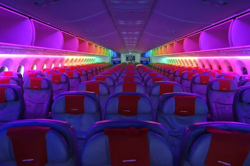 Norwegian flies across the Atlantic on its Dreamliner.