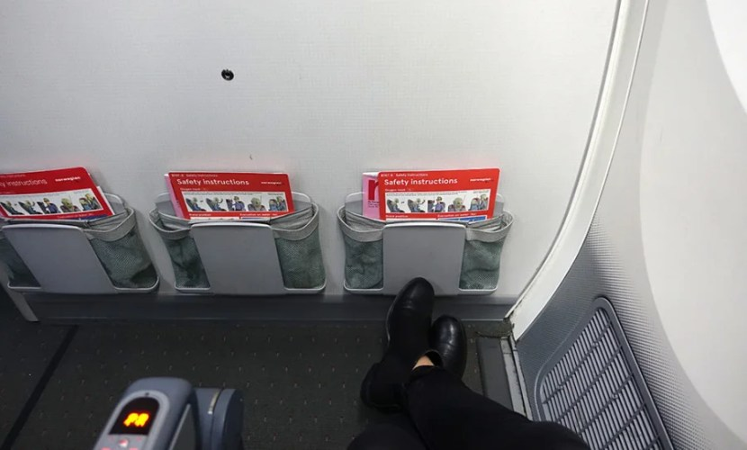 Look at all that legroom — in economy!