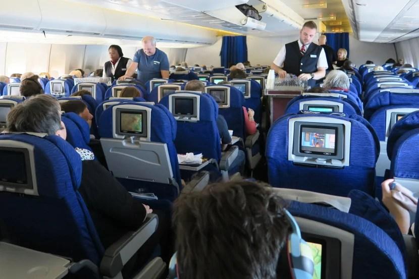 Two flight attendants served the entire rear cabin.