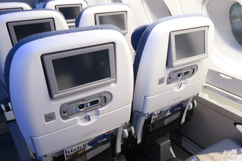 The seatback screens were large and able to tilt.