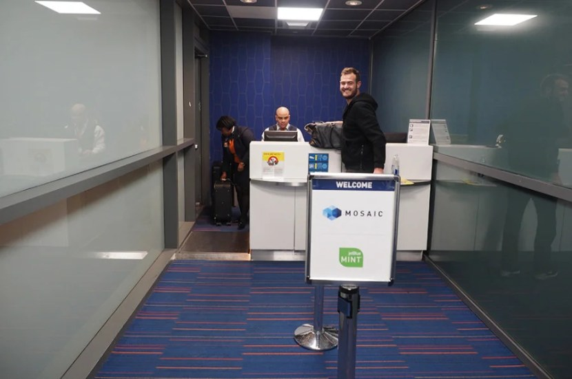 Be sure to check-in at the specified Mint counter at JFK.