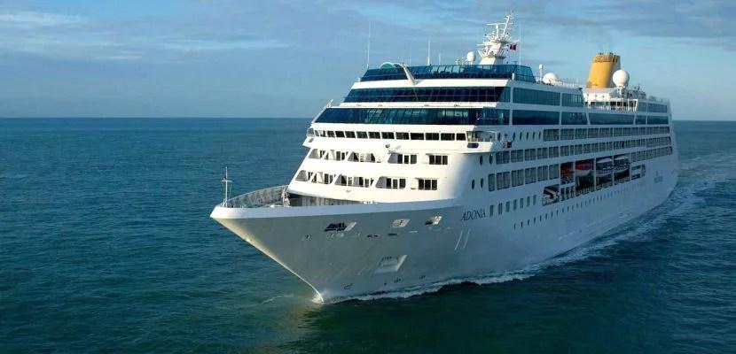 The Fathom Adonia cruise ship.
